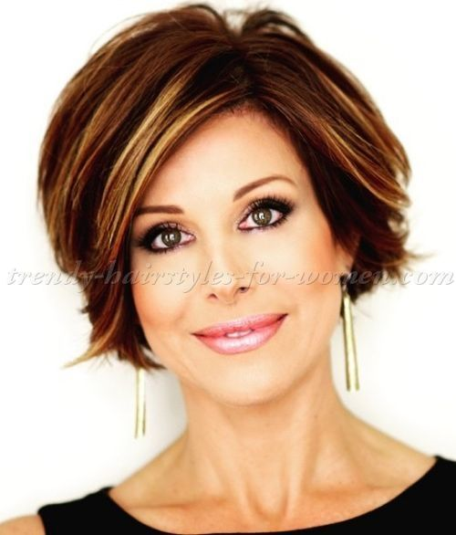 smooth hairstyles for medium short hair | short hairstyles over 50 - Dominique Sachse short hairstyle | trendy ...