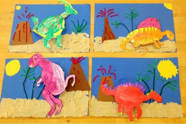 Dinosaur Collage- Grades 1-3/Art with Mr. Giannetto Blog