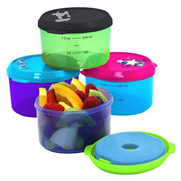 Fit and Fresh Kids Smart Portions Snack Container 1 Cup- Snacking just got smarter and healthier with the Fit & Fresh™ 1 cup Smart Portion™ Container that keeps snacks chilled and fresh till when you're ready to munch. These smart and colourful containers pack exactly 1 cup to make portioning easier for busy mums. No more wondering if you're giving too much or too little!! #bpafree #eathealthy #schoollunches #forkids #lunchboxideas