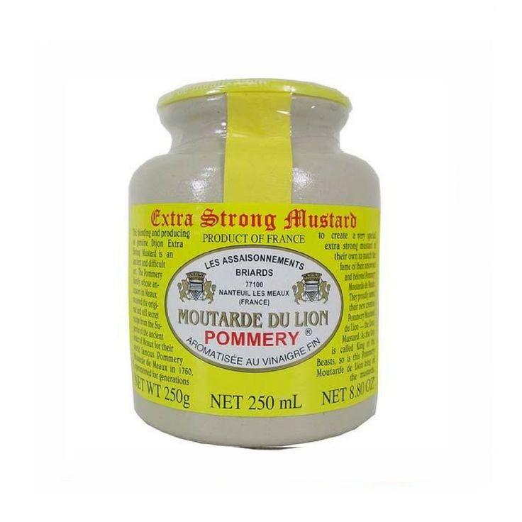 Pommery Lion's mustard (Moutarde Du Lion) 250g (8.8 oz)  #FrenchCuisine #LeTablierbleu #TOPCHEFS #FrenchFood