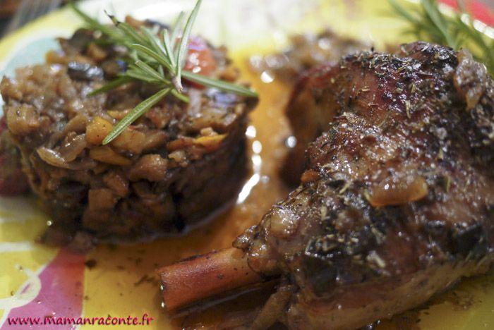 Souris d'agneau confites accompagnées d'une ratatouille provençale