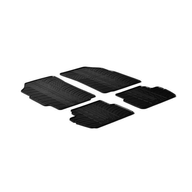 Gledring 2012-2015 Chevrolet Spark Custom Fit All Weather Heavy Duty Car Floor Mats, Black