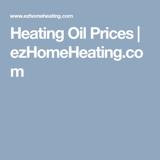 Heating Oil Prices | ezHomeHeating.com
