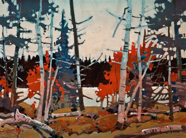 """Pattern, Heenan Point, Lake of the Woods,"" by Robert Genn 12 x 16 - acrylic $3200 Unframed"