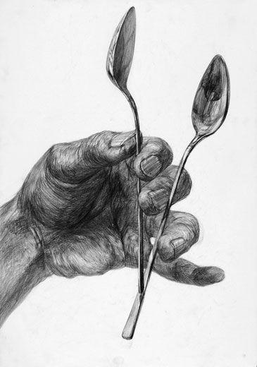 デッサン「手とスプーン」/B3サイズ