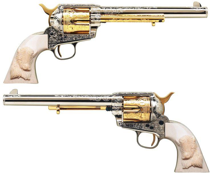 Buffalo Bill Cody's Engraved Colt Cavalry Model Single Action Army Revolver