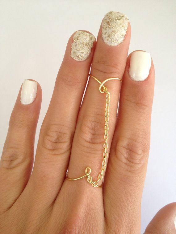 Wear Multiple Ways, Slave Chain Ring, in Gold Silver or Pink Rose, Adjustable