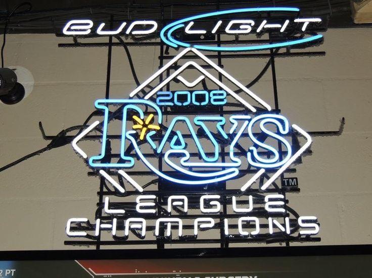Bud Light Tampa Bay Rays Neon Sign MLB Teams Neon Light