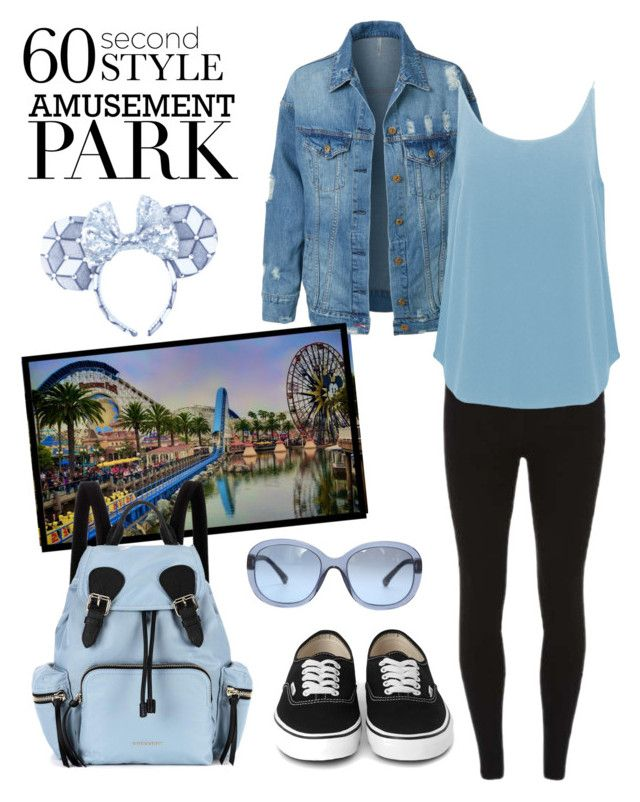 """Amusement park 60 sec style"" by jsmith197170 ❤ liked on Polyvore featuring LE3NO, Dorothy Perkins, Burberry, BA&SH, Chanel, amusementpark and 60secondstyle"