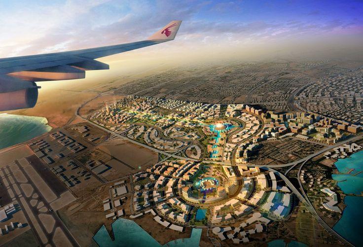 Aerial view of Qatar.