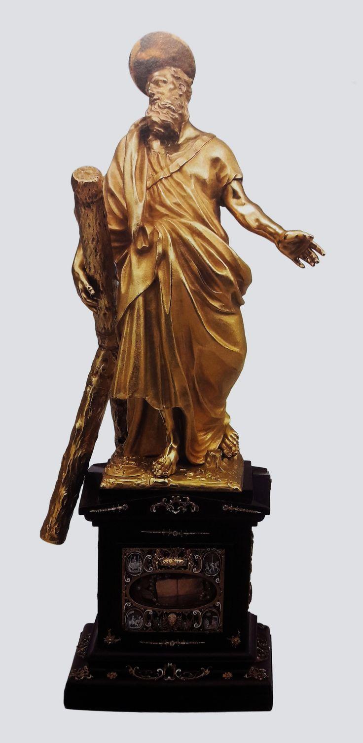 Gold statue of Saint Andrew by Anonymous from Rome, ca. 1688-1689, Muzeum Archidiecezji Warmińskiej, founded by Michał Stefan Radziejowski