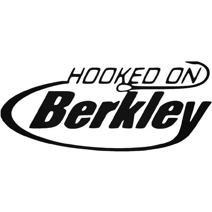 Hooked On Berkley Fishing Logo Vinyl Decal Sticker  BallzBeatz . com #BerkleyFishing