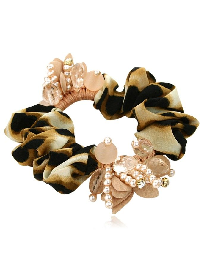 Exquisite Crystal Beads Imitated Pearl Scrunchies For Women at nextwigs.com