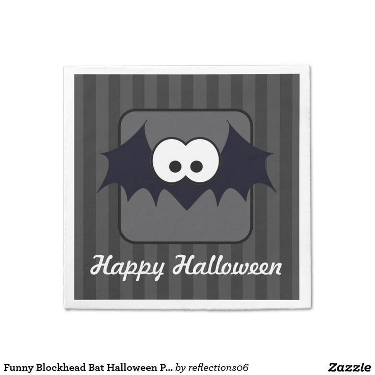 Funny blockhead bat halloween party
