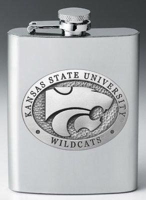 Kansas State Wildcats 8 oz Stainless Steel Flask - NCAA College Athletics by Heritage Metalworks. $32.95. A flask is a great gift for that man in your life. Personalize it with the large pewter appliques and choose from many styles!