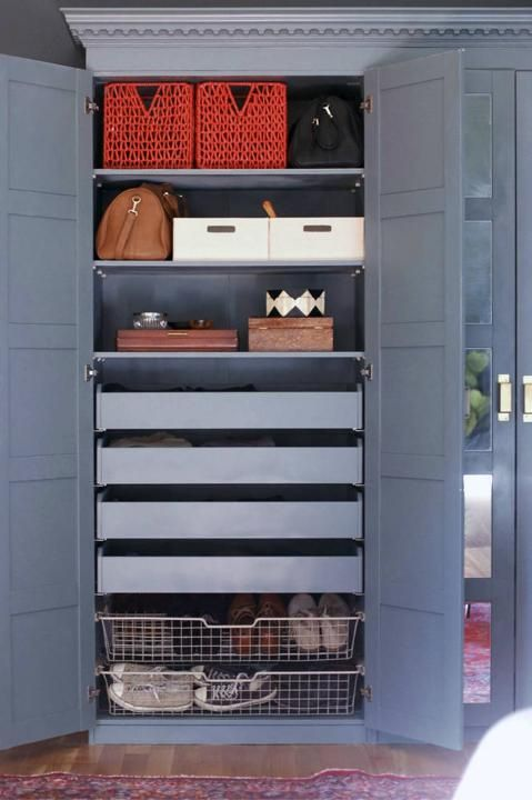 A step-by-step guide to turn an IKEA Pax closet system into a custom wardrobe and vanity.