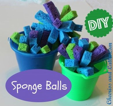 Sponge Balls - The boys would so love these, both in and out of the water. :-) Make to take on vacation!
