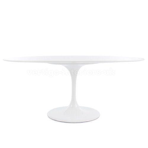 "Eero Saarinen Style Oval Tulip Dining Table - White 78"" X 47"" Vertigo Interiors USA http://www.amazon.com/dp/B00IPSM7PU/ref=cm_sw_r_pi_dp_6UcTtb1S5EKPSNZ2"
