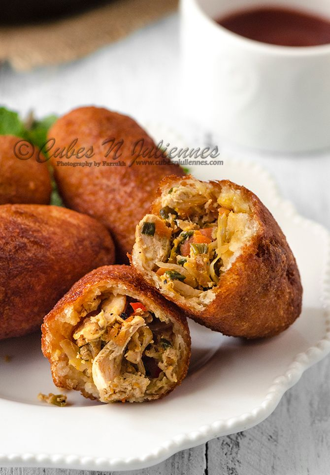 Chinese Style Chicken Bread Rolls - Cubes N Juliennes