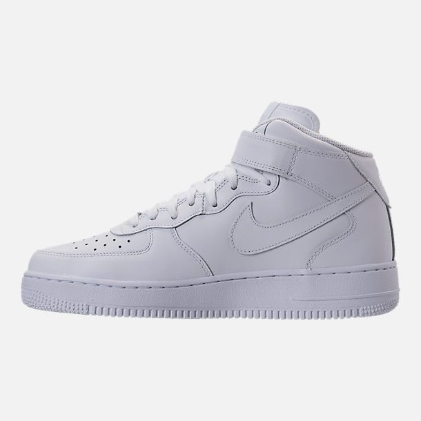 best service c6d12 9a30c Left view of Men s Nike Air Force 1 Mid Casual Shoes in White White
