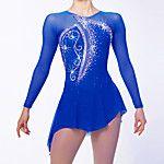 Robe de Patinage Femme Manches longues Patinage Robes Haute élasticité Robe de patinage artistique Respirable / VestimentaireFleurs / de 2017 ? €53.27