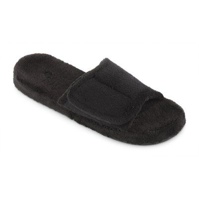 Acorn Mens Spa Slide Slipper - Black, Size: Small (7.5/8.5) - A10602AAAMS