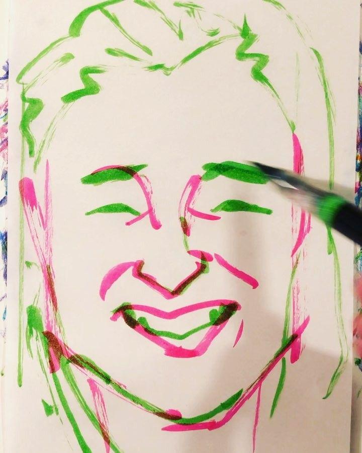 torao fujimotoさんはInstagramを利用しています:「#sakamotokaori #坂本花織 #figureskating #フィギュアスケート #20000409 #birthday #誕生日 #1mindraw #一分描画 #portrait #似顔絵 #illustration #イラストレーション #筆ペン画」