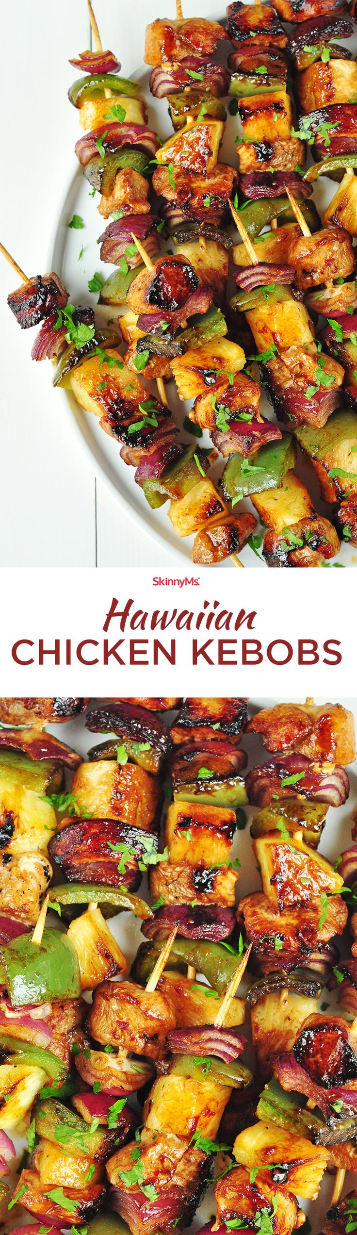 These Hawaiian Chicken Kebobs are everything! What better way is there to ring in the summer weather?