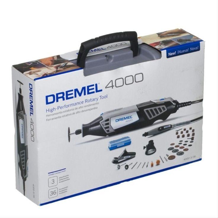 Retifica Dremel 4000 Kit 36 Aces.+3 Acoplamentos 110v / 220v - R$ 382,50 no MercadoLivre