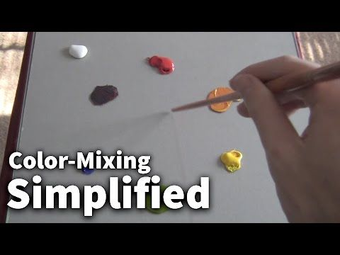 How to mix bright pink with acrylic paint: Colour mixing basics with acrylics   Part 1 of 2 - YouTube