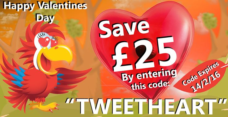 """Polly is sharing the love this Valentines Day  Use the promo code """"TWEETHEART"""" to save £25 on any order. Valid until 14/2/16."""