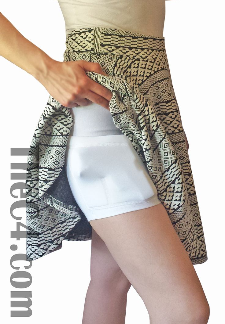 Wear these shorts under dresses and skirts for concealed carry, or during a…