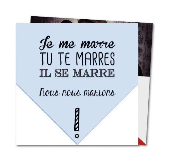 faire part mariage marions nous