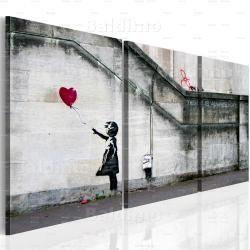 BIMAGO Schilderij Er is altijd hoop (Banksy) - drieluik