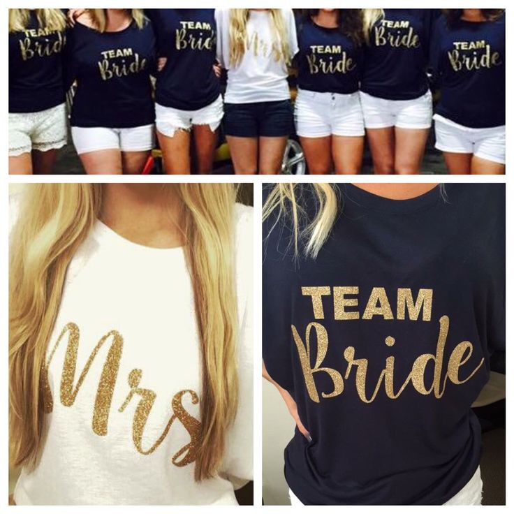 Bridal Party Shirts by UrbanMermade1 on Etsy https://www.etsy.com/listing/247553448/bridal-party-shirts