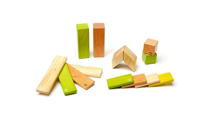 Tegu magnetic wooden blocks // 14-Piece Set - Jungle