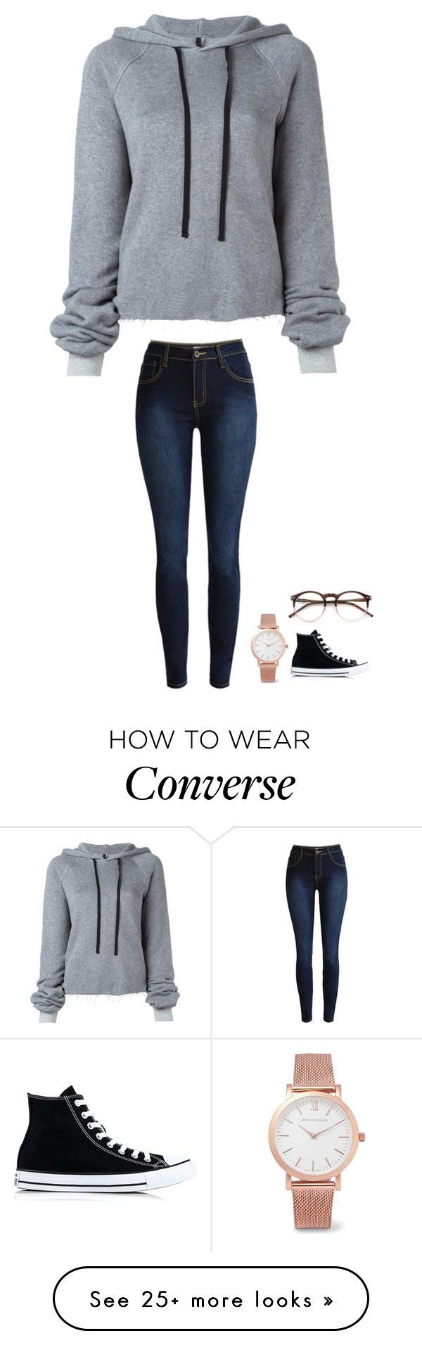 """""""ugh"""" by jasmine2001 on Polyvore featuring Unravel, Wildfox, Larsson & Jennings and Converse"""