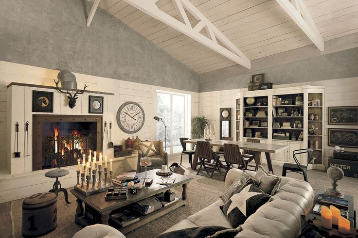 Soggiorno Shabby Chic vintage Dialma Brown. I complementi d'arredo ideali per la tua casa country, per la tua villa o per il tuo loft. Acqustabile su: http://www.garneroarredamenti.com/dialma-brown.html