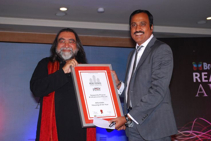 Sowparnika Projects & Infrastructure Pvt. Ltd. - Real Estate & World Travel Brands Awards , Dec-2012