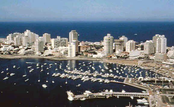 Punta del Este, Maldonado. Located on a peninsula. Uruguay´s major touristic area.