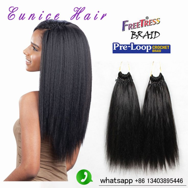 118 best hair wigs weaves crochet hair and extensions images on pre loop yaki straight 18inch freetress synthetic crochet braids kinky straight micro loop hair extensionsextensions pmusecretfo Choice Image