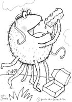 jonnie de spin van het prentenboek Guido van genechten