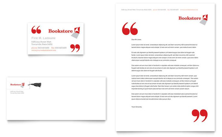 Bookstore & Library Business Card & Letterhead Template - Word ...