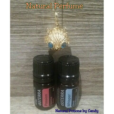 Day 2 of 100.  Natural Perfume  1 drop Whisper  1 drop Passion   Put into an essential oil locket and enjoy!   #doterra #perfume #naturalpotionsbycandy