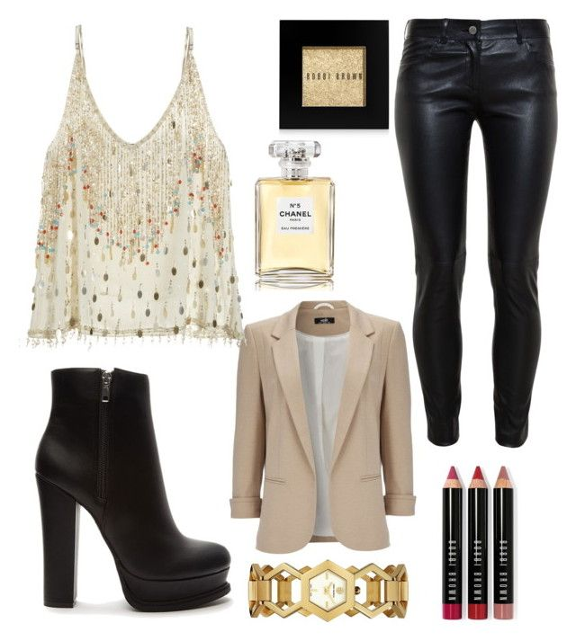 """""""gold magic"""" by aylin-schuler ❤ liked on Polyvore featuring Wallis, Calypso St. Barth, Balenciaga, Forever 21, Tory Burch, Bobbi Brown Cosmetics and Chanel"""