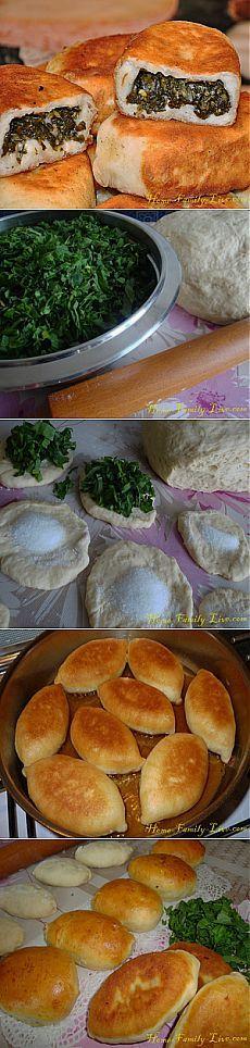 Пирожки со щавелем - Кулинарные рецепты