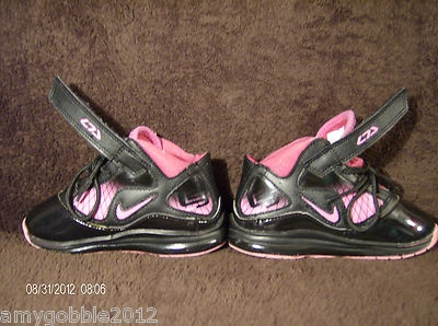 Adorable pink & black Lebron James shoes for girld by NIKE size 8 childrens.!!!