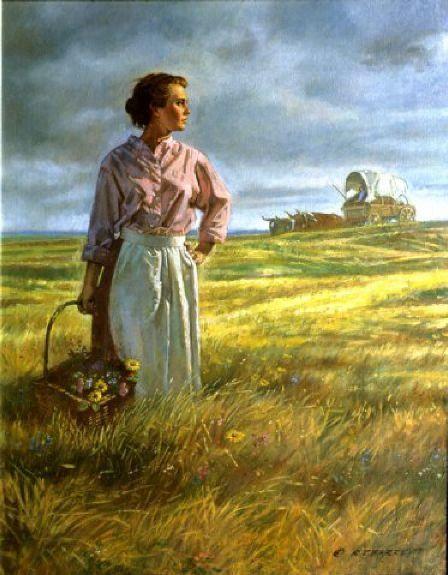 """The Pioneer"" - art by Robert T. Barrett"
