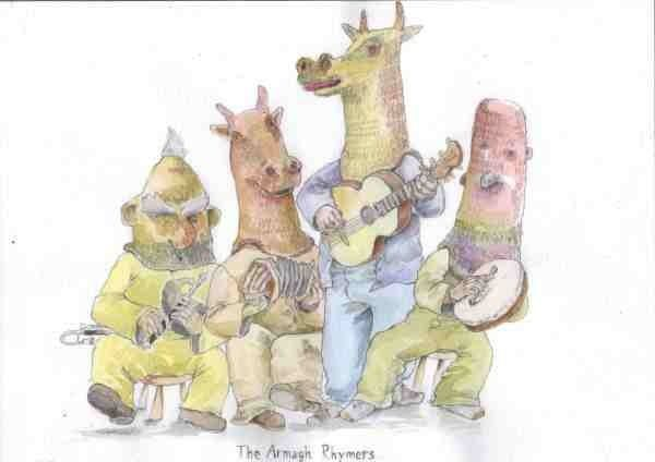 Cartoon of our family show in Monaghan on St Paddy's day 2012