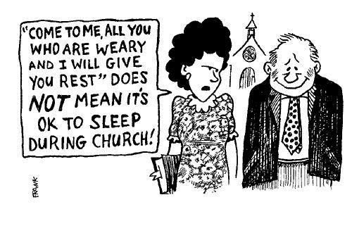 church cartoons christian jokes humor bulletin funny comics bible bulletins faith religious funnies cartoon sleep jesus clean memes discover
